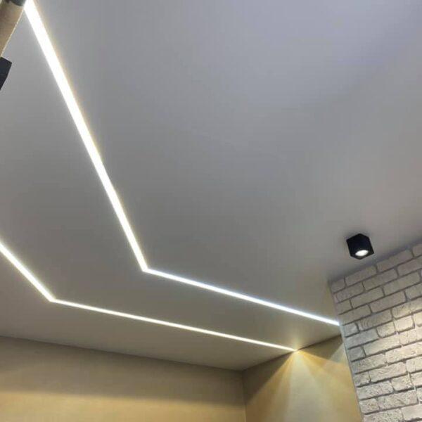 Матовый натяжной потолок с вставками Одесса komfortcenter.com.ua-02