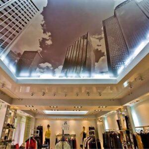 натяжные потолки для торговых площадей - komfortcenter.com.ua
