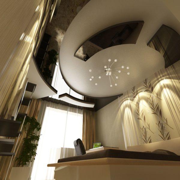 натяжные потолки многоуровневые, двухуровневые - komfortcenter.com.ua