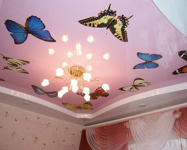 натяжные потолки с рисунком - komfortcenter.com.ua