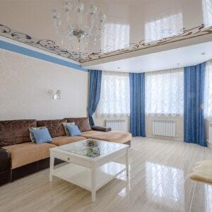 натяжные потолки в гостиную - komfortcenter.com.ua
