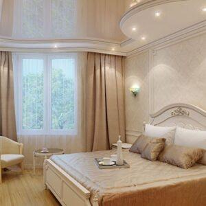 натяжные потолки в спальню - komfortcenter.com.ua