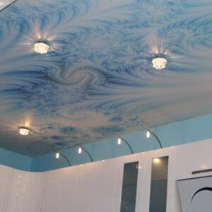 натяжные потолки в ванную - komfortcenter.com.ua